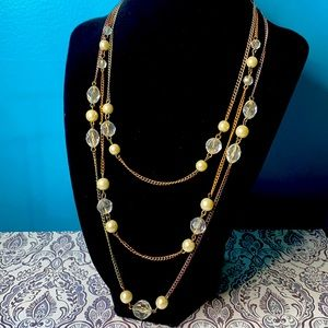 Claire's Multi-Strand Layered Bead Necklace